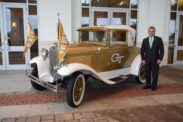 U.S. Congressman Buddy Carter with the Ramblin' Wreck